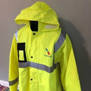 Vintage Jackets & Coats - American Airlines Neon Official Visibility Jacket